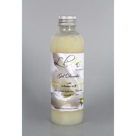 Gel douche NATUREL - 40% lait d'ânesse -  Sans sulfate  - Tiaré-  100ml